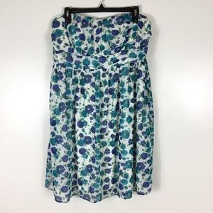 Torrid Blue Floral Tunic Dress Womens Plus 1X